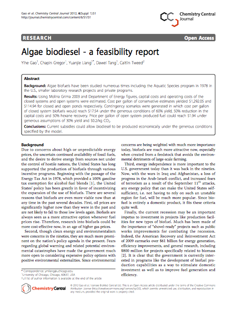 pre feasibility study of the biodiesel production A pre-treatment stage) transesterification, feasibility study introduction investigate the feasibility of a typical biodiesel production unit fed by recycled.