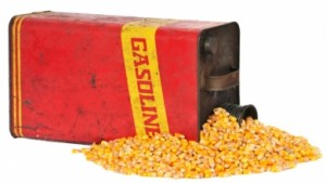 Gas Can Spilling Corn