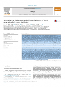 Forecasting the limits to the availability and diversity of global conventional oil supply: Validation