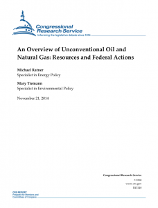 An Overview of Unconventional Oil and Natural Gas: Resources and Federal Actions