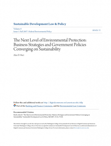 The Next Level of Environmental Protection: Business Strategies and Government Policies Converging on Sustainability