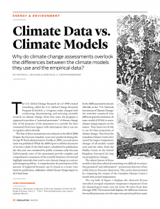Climate Data vs. Climate Models: Why do climate change assessments overlook the differences between the climate models they use and the empirical data?