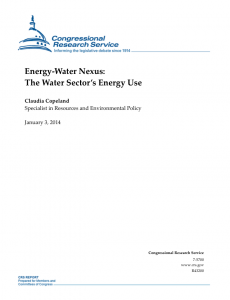 Energy-Water Nexus:The Water Sector's Energy Use