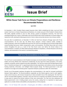 White House Task Force on Climate Preparedness and Resilience Recommended Actions