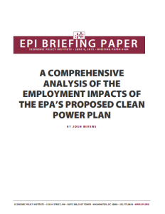 A Comprehensive Analysis of the Employment Impacts of the EPA's Proposed Clean Power Plan