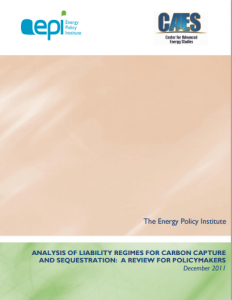 Analysis of Liability Regimes for Carbon Capture and Sequestration: A Review for Policymakers