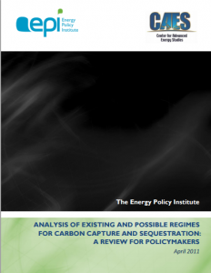 Analysis of Existing and Possible Regimes for Carbon Capture and Sequestration: A Review for Policymakers