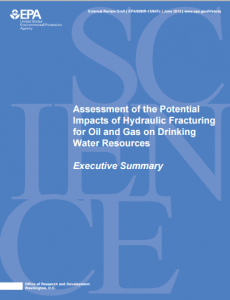 Assessment of the Potential Impacts of Hydraulic Fracturing for Oil and Gas on Drinking Water Resources
