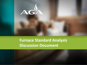 Condensing Furnace Standard Impact Analysis Discussion Document