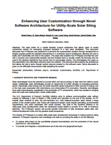 Enhancing User Customization through Novel Software Architecture for Utility-Scale Solar Siting Software