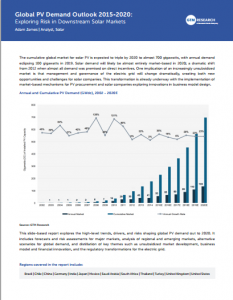 Global PV Demand Outlook 2015-2020: Exploring Risk in Downstream Solar Markets