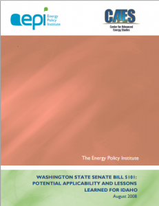 Washington State Senate Bill 5101:  Potential Applicability and Lessons  Learned for Idaho