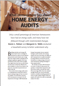 What Homeowners Say About Home Energy Audits