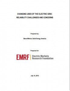 Changing Uses of the Electric Grid: Reliability Challenges and Concerns