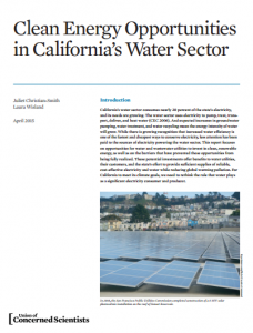 Clean Energy Opportunities in California's Water Sector