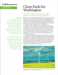 Clean Fuels for Washington: Expanding Production and Use of Clean Fuels Will Deliver Economic and Climate Benefits