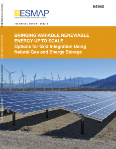 Bringing Variable Renewable Energy (VRE) Up To Scale: Options for Grid Integration Using Natural Gas and Energy Storage