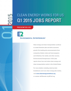 Clean Energy Works for Us: Q1 2015 Jobs Report