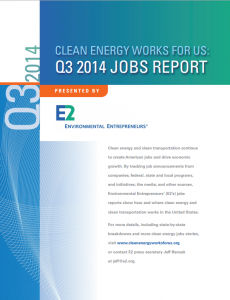 Clean Energy Works for Us: Q3 2014 Jobs Report