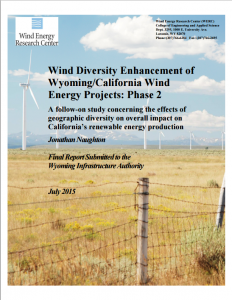 Wind Diversity Enhancement of Wyoming/California Wind Energy Projects: Phase 2