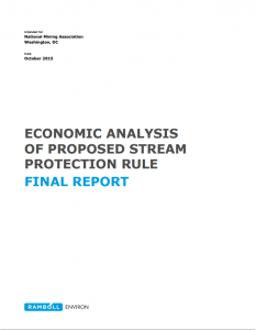 Economic Aanlysis of Proposed Stream Protection Rule