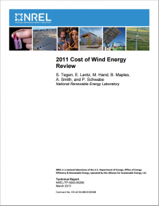 2011 Cost of Wind Energy Review