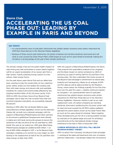 Accelerating the US Coal Phase Out: Leading by Example in Paris and Beyond