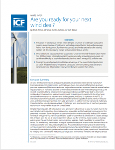 Are You Ready for Your Next Wind Deal?