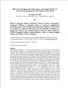 100% Clean and Renewable Wind, Water, and Sunlight (WWS) AllSector Energy Roadmaps for 139 Countries of the World