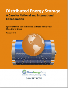 Distributed Energy Storage: A Case for National and International Collaboration