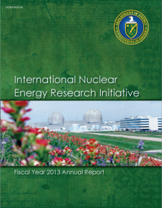 International Nuclear Energy Research Initiative: Fiscal Year 2013 Annual Report