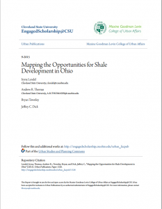 Mapping the Opportunities for Shale Development in Ohio