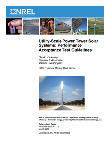 Utility-Scale Power Tower Solar Systems: Performance Acceptance Test Guidelines