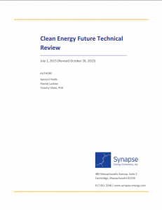 Clean Energy Future Technical Review
