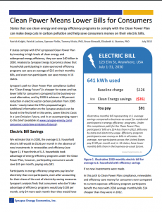 Clean Power Means Lower Bills for Consumers