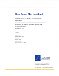 Clean Power Plan Handbook: A Guide to the Final Rule for Consumer Advocates