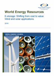 World Energy Resources – E-storage: Shifting from Cost to Value