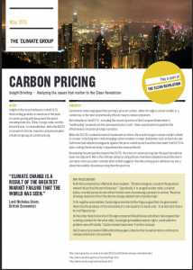 Insight Briefing: Carbon Pricing