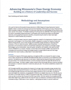 Advancing Minnesota's Clean Energy Economy: Building on a History of Leadership and Success