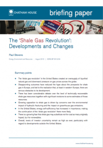The 'Shale Gas Revolution': Developments and Changes