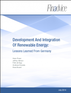 Development And Integration Of Renewable Energy: Lessons Learned From Germany