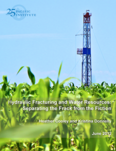 Hydraulic Fracturing and Water Resources: Separating the Frack from the Fiction
