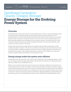 Energy Storage for the Evolving Power System