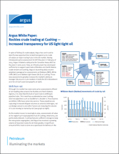Argus White Paper: Rockies crude trading at Cushing — Increased transparency for US light tight oil