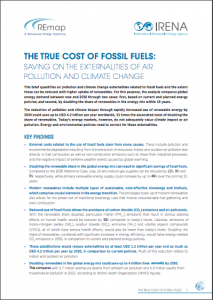 The True Cost of Fossil Fuels: Saving on the Externalities of Air Pollution and Climate Change
