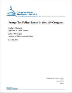Energy Tax Policy: Issues in the 114th Congress