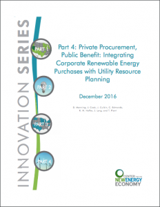 Part 4: Private Procurement, Public Benefit: Integrating Corporate Renewable Energy Purchases with Utility Resource Planning