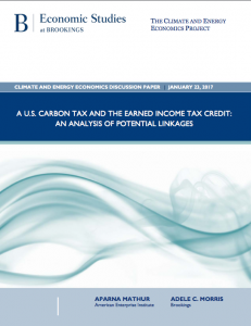 A U.S. Carbon Tax And The Earned Income Tax Credit: An Analysis Of Potential Linkages