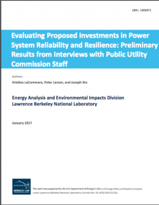 Evaluating Proposed Investments in Power System Reliability and Resilience: Preliminary Results from Interviews with Public Utility Commission Staff