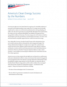 America's Clean Energy Success by the Numbers